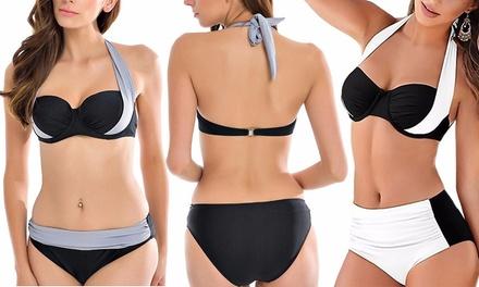 1 ou 2 bikinis pushup taille haute ajustable, coloris et tailles au choix