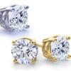 2.00 CTTW Genuine White Topaz Stud Earrings by GemmaLuna