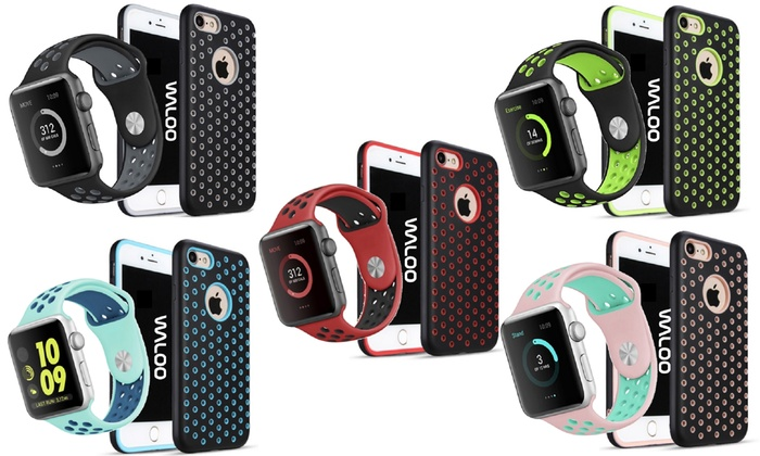 Waloo Breathable IPhone Case And Apple Watch Band For 7
