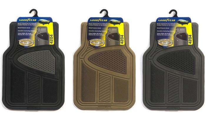 Goodyear Multi Season Rubber Floor Mat Set 4 Piece Groupon
