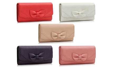 Pearl Fashion Bow Tie Purse in Choice of Colour for £6.5 (75% Off)