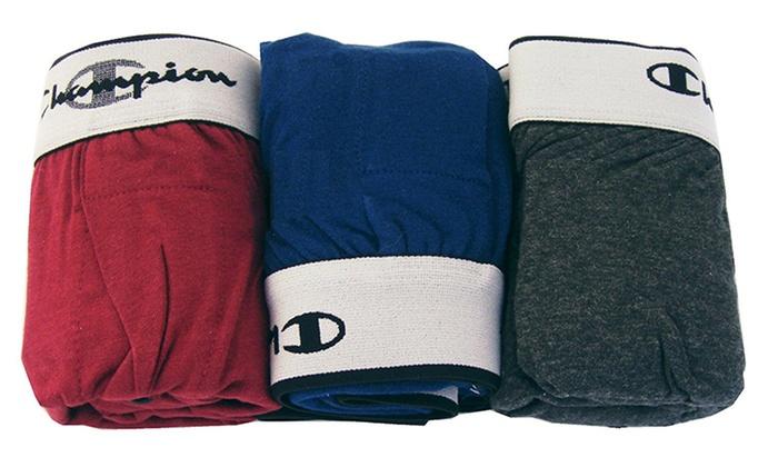 Champion Men's Knit Boxer Shorts (3-Pack)