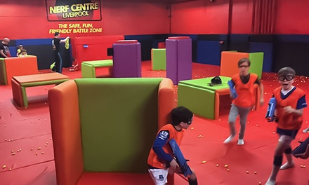 One-Hour Nerf Session for Two, Four or Six at Nerf Center Liverpool
