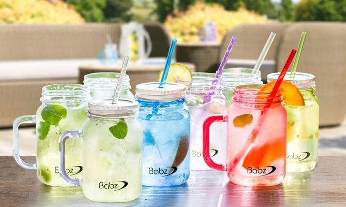 4 oder 8 Babz Mason-Jar-Gläser | Groupon