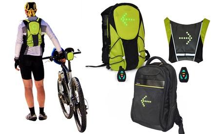 Mochilas y chaleco para ciclistas con indicadores luminosos Jocca