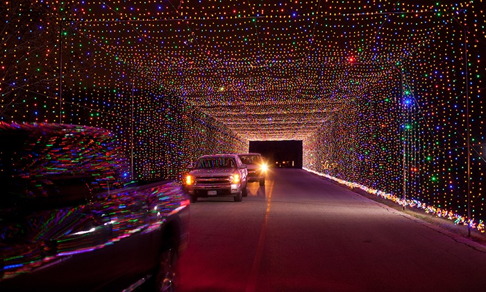 Prairie Lights - Lynn Creek Park: $17 for Drive-Thru Holiday Light Park and Gift Shop Credit at Prairie Lights ($35 Value)