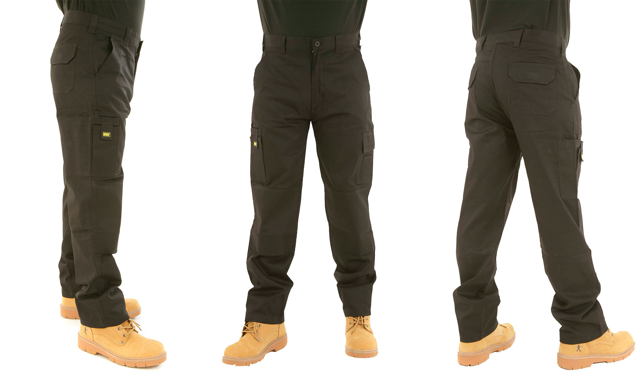 Men's MIG Cargo Work Trousers in Choice of Colour From £10