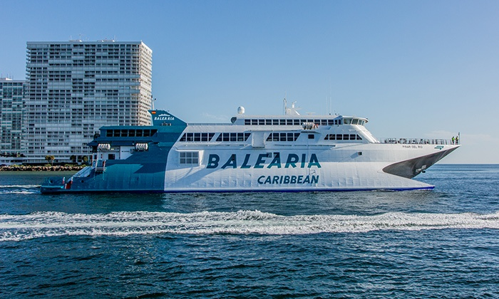 Balearia Caribbean - Port Everglades: One- or Multi-Day Round-Trip Ferry to the Bahamas from Balearia Caribbean (51% Off)