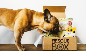 67% Off Pet Toy Subscription Box at RescueBox, plus 6.0% Cash Back from Ebates.
