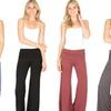 Lyss Loo Women's Fold-Over Palazzo Flare Pants
