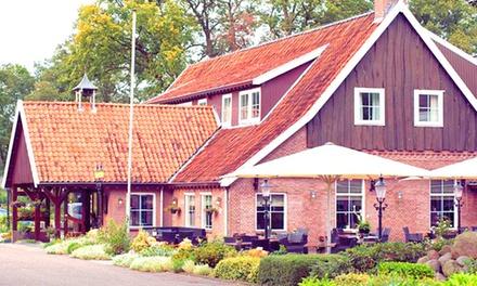 Overijssel: comfort tweepersoonskamer incl. ontbijt en naar keuze een 4gangendiner voor twee bij Het Ros van Twente