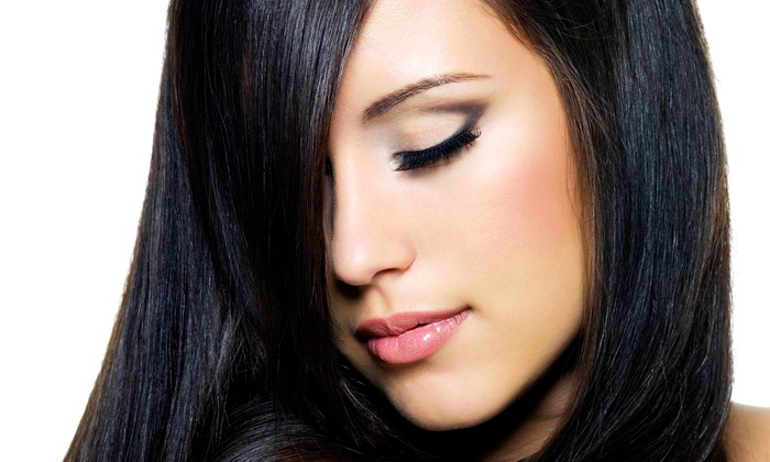 Fine Lines Hair Salon - Newton: Haircut and Coloring or Highlight Packages at Fine Lines Hair Salon (Up to 60% Off). Three Options Available.