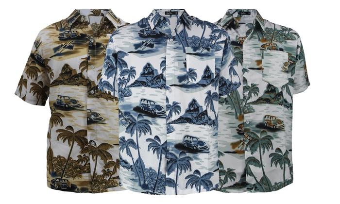 c2a183d5b Up To 40% Off on Men's Button-Down Polo Shirt | Groupon Goods