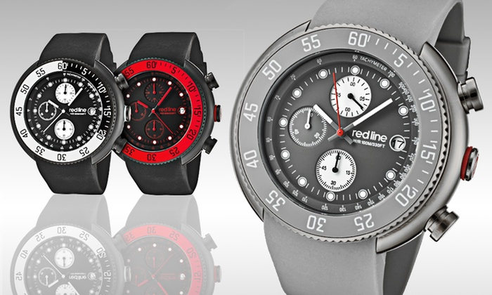 Red Line Men's Chronograph Watches: Red Line Men's Driver Chronograph Watches (Up to 91% Off). Six Options Available. Free Shipping and Free Returns.