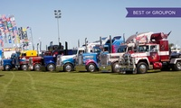 Truckfest East Day Ticket for a Child, Adult or a Family 19-20 August at Norfolk Showground