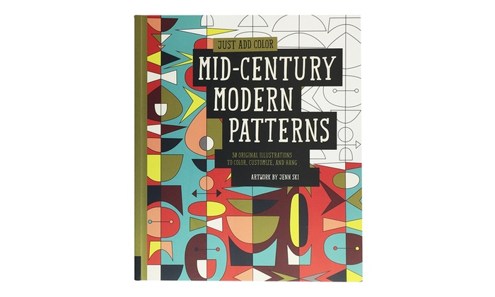 just add color mid century modern patterns coloring book just add color - Modern Patterns Coloring Book