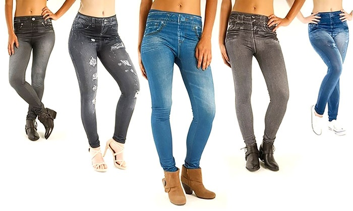 Three-Pack of Jeggings | Groupon Goods