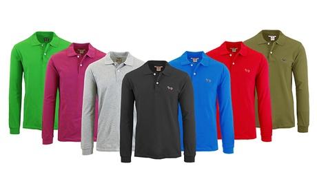 Men's Cotton Long-Sleeve Pique Polo Shirt 89fe1f40-e445-11e7-ac6b-002590604002