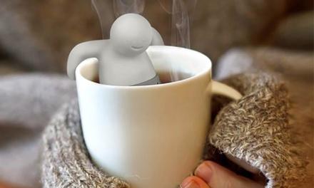 1x, 2x, 3x oder 5x spülmaschinenfestes Tee Ei in Form eines Menschen aus weichem, lebensmittelechtem Silikon