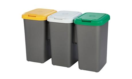 Cubo de reciclaje con 3 compartimentos