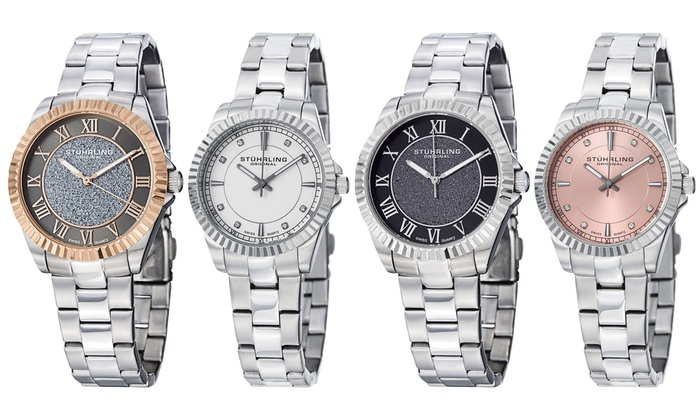 Clearance: Stührling Original Women's Stainless Steel Swiss Watch: Clearance: Stührling Original Women's Stainless Steel Swiss Quartz Dress Watch