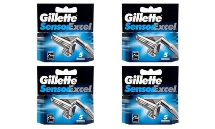 5, 10 or 20 Gillette Sensor Excel Razor Blades
