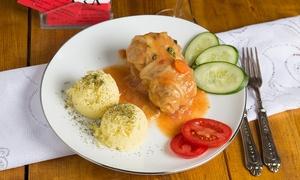 Bajka: Menu tipico polacco con vino e birra per 2 persone da Bajka