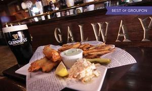 Pub Galway: 20 C$ pour un bon d'achat de 40 C$ pour deux personnes, applicable sur les repas et boissons au Pub Galway