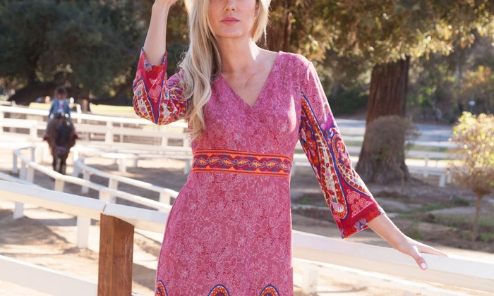 Women's Embroidered Midi Sweater Dress