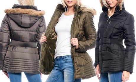 Women's Sherpa-Lined Puffer Jacket