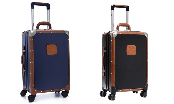 Leather-Trimmed Carry-On Luggage | Groupon Goods