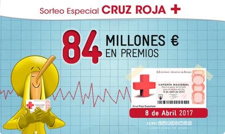 Participación en el Sorteo de Cruz Roja con la peña La Bruixa d'Or por 8,40 € con Serviapuestas