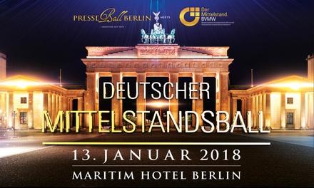 Ticket für den Presseball Berlin inkl. Speisen und Getränke am 13.01.2018 im Maritim Hotel Berlin (20% sparen*)