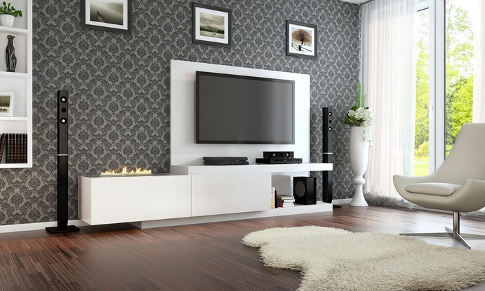 meuble tv vambola lowboard groupon. Black Bedroom Furniture Sets. Home Design Ideas