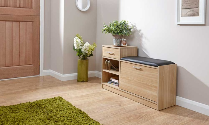 Up To 17 Off Hallway Shoe Bench Groupon