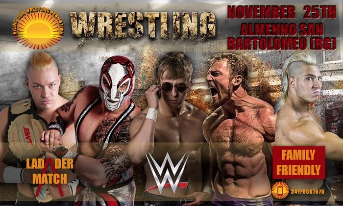 Rise Sun Wrestling - biglietto per spettacolo di wrestling, il 25 novembre a Bergamo (sconto fino a 48%)