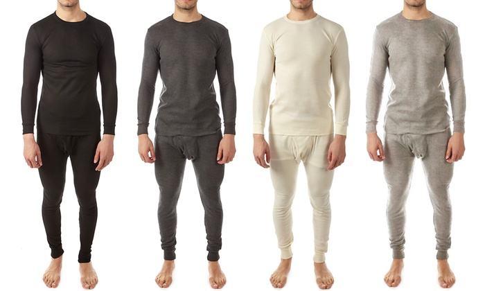 Vertical Sports Men's Waffle-Knit Thermal Set (2-Piece)