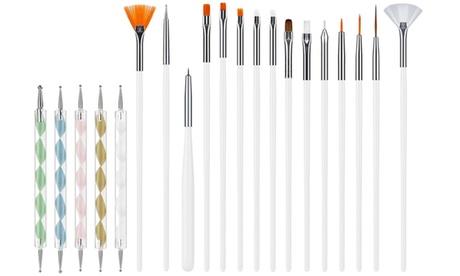 Pack de pinceles y bolígrafos de diseño artístico de uñas de 20 piezas