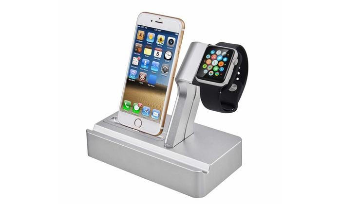 Station d 39 accueil 3 en 1 pour iphone et apple watch groupon - Station accueil iphone ...