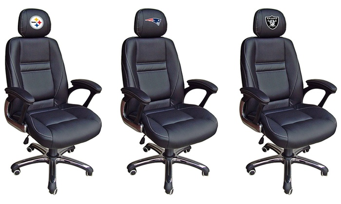 Nfl Head Coach Leather Office Chair Groupon
