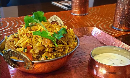 TwoCourse Indian Dinner with Wine for Two $29 or Four People $55 at India To You Up to $120 Value