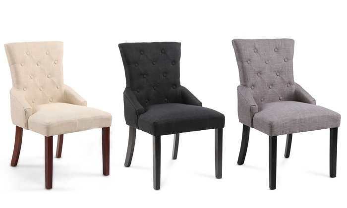 chaises de salle manger capitonn es groupon. Black Bedroom Furniture Sets. Home Design Ideas