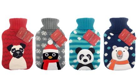 Winter-Themed Hot Water Bottle