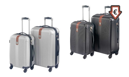 b4d641947eea2 TwoPiece GlobalLite ABS Suitcase Set for €64.99 With Free Delivery