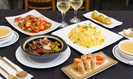 Chinese Feast with Wine for Two ($55) or Four People ($99) at Little China Palace (Up to $165 Value)