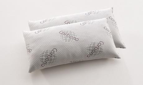 Pack de 2 almohadas de carbono Visco Copos Newconfort