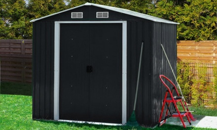 Metal garden shed groupon goods for Gardening 4 less groupon