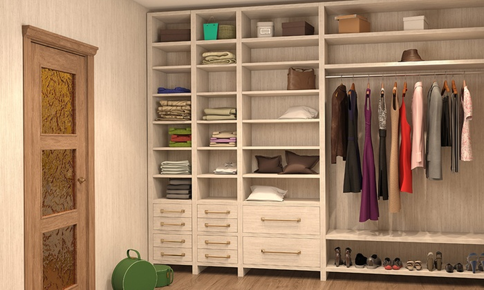 Up to seven foot custom closet installation from advanced custom cabinets and closets up