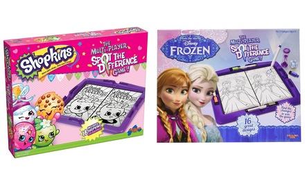 Verschillende Disney spellen voor kinderen van Shopkins of Frozen