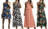 Women's Floral Printed Strappy Dress